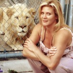Ginger Lynn with Lion BTS personal